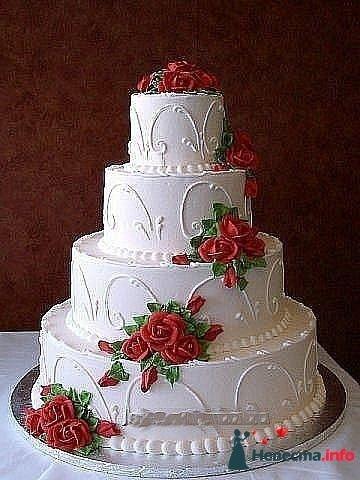 """Фото 128293 в коллекции Свадебные торты - """"Мир Любви"""" - студия свадебных услуг"""