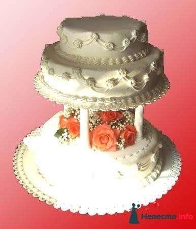 """Фото 128317 в коллекции Свадебные торты - """"Мир Любви"""" - студия свадебных услуг"""