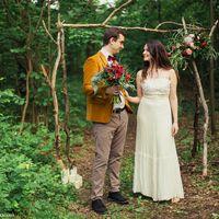 бохо, свадьба в лесу, лесная свадьба, бордо, марсала, оранжевый