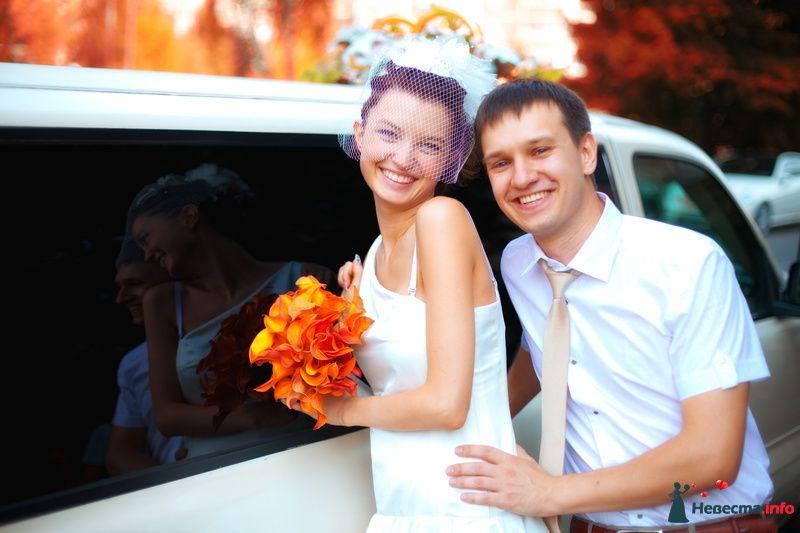 Молодожены около лимузина - фото 129725 Свадебный фотограф Максим Чесалин