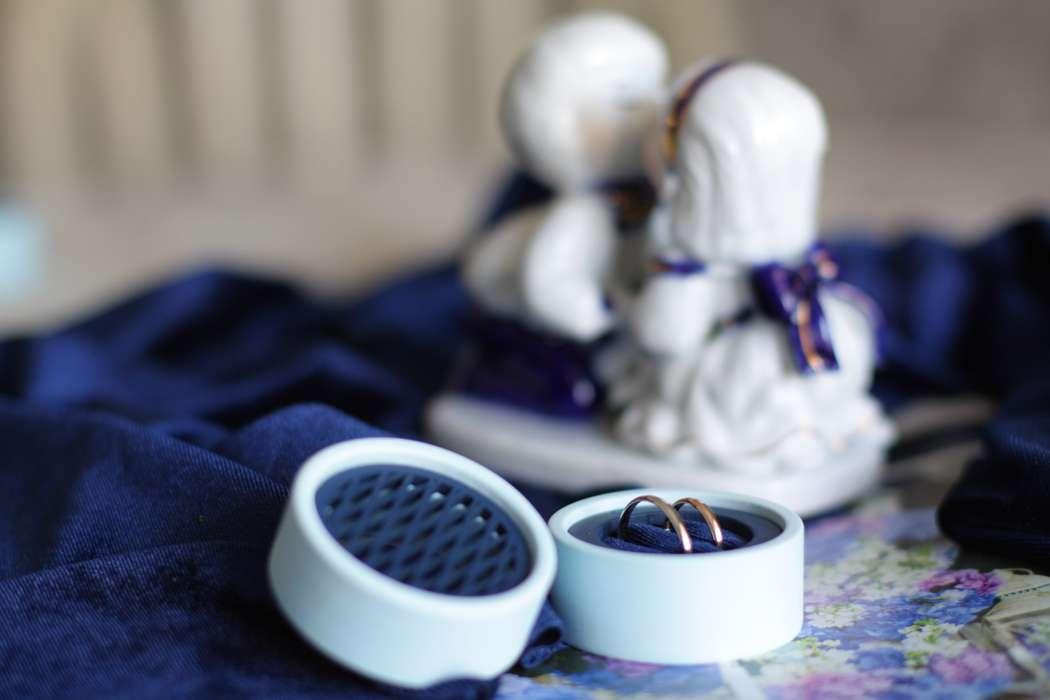 """Синяя шкатулочка для колец с резной крышечкой! - фото 18681288 Творческая мастерская """"Mia"""" - оформление"""