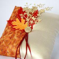 Подушечка для колец на Осеннюю свадьбу
