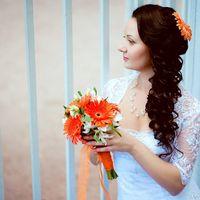 Образ невесты в оранжевых тонах