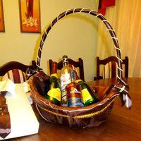 корзинка для фруктов в шоколадной атласной ткани с золотым декором для Красивый нишан