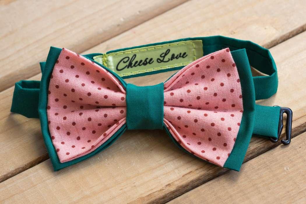 Галстук-бабочка зелено-розовая с горошком Стоимость 890р.  Чтобы заказать пишите в л.с.  или по т. +7 950 038 54 26 - фото 17458994 CheeseLove - дизайнерские аксессуары ручной работы