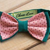Галстук-бабочка зелено-розовая с горошком Стоимость 890р.  Чтобы заказать пишите в л.с.  или по т. +7 950 038 54 26