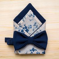 Стильный темно-синий комплект: галстук-бабочка+платочек. Стоимость комплекта - 1200р.  Чтобы заказать пишите в л.с.  или по т. +7 950 038 54 26