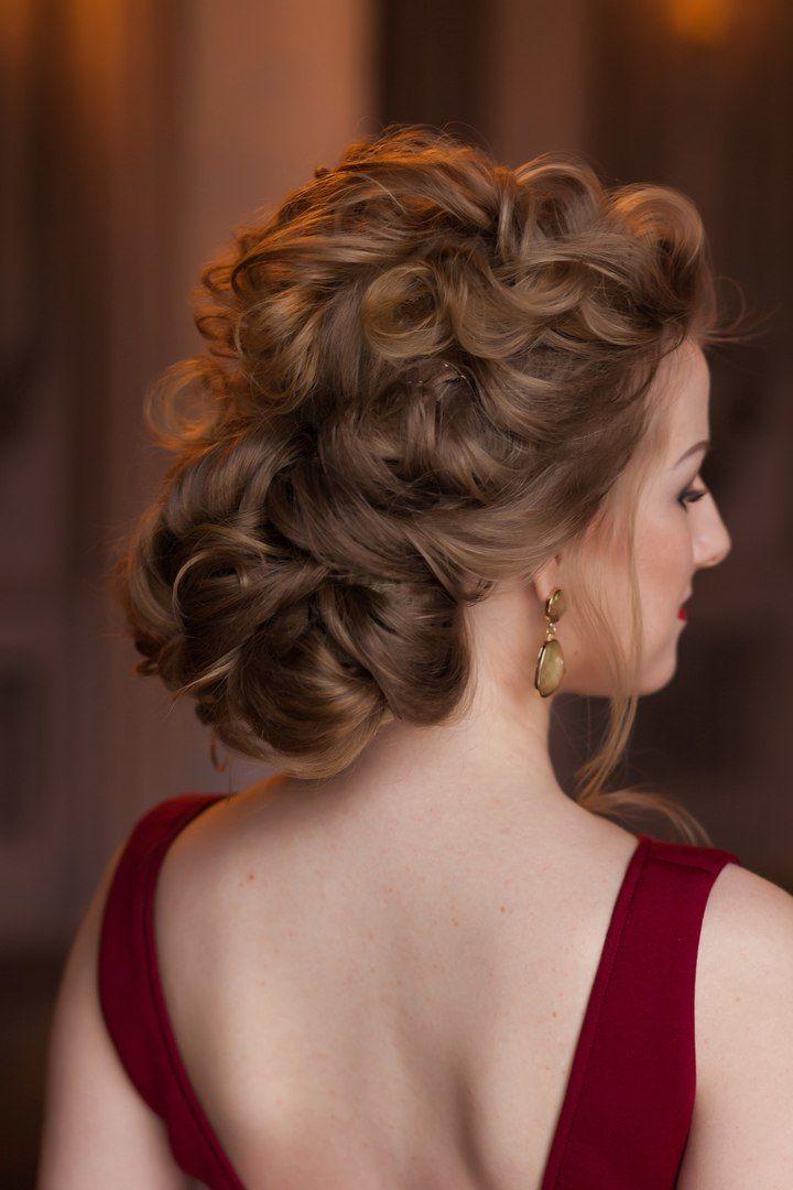 Вечерняя прическа на длинный волос собранный волос