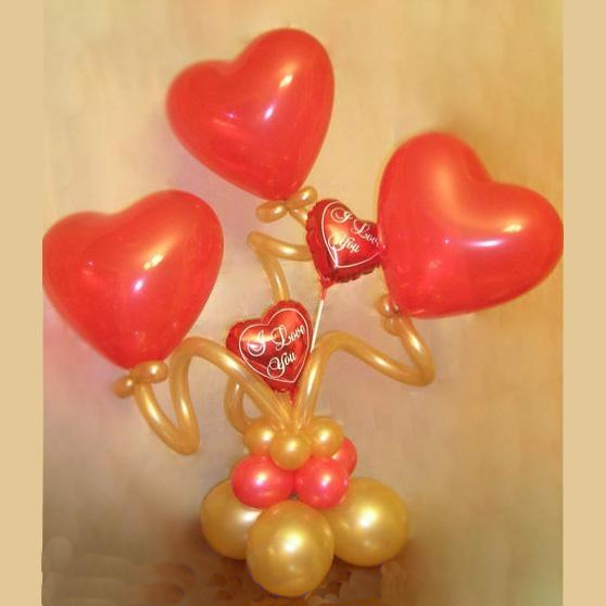Букет из сердец - 100 грн. - фото 2653475 Gala day - оформление шарами