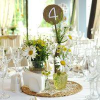 Декор гостевых столов, ромашки