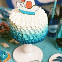 Торт для сладкого стола - про море.