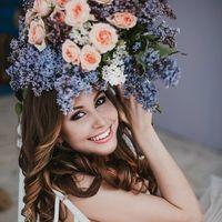 Букет невесты с розой и сиренью Работа флористов филиала г.Магнитогорск