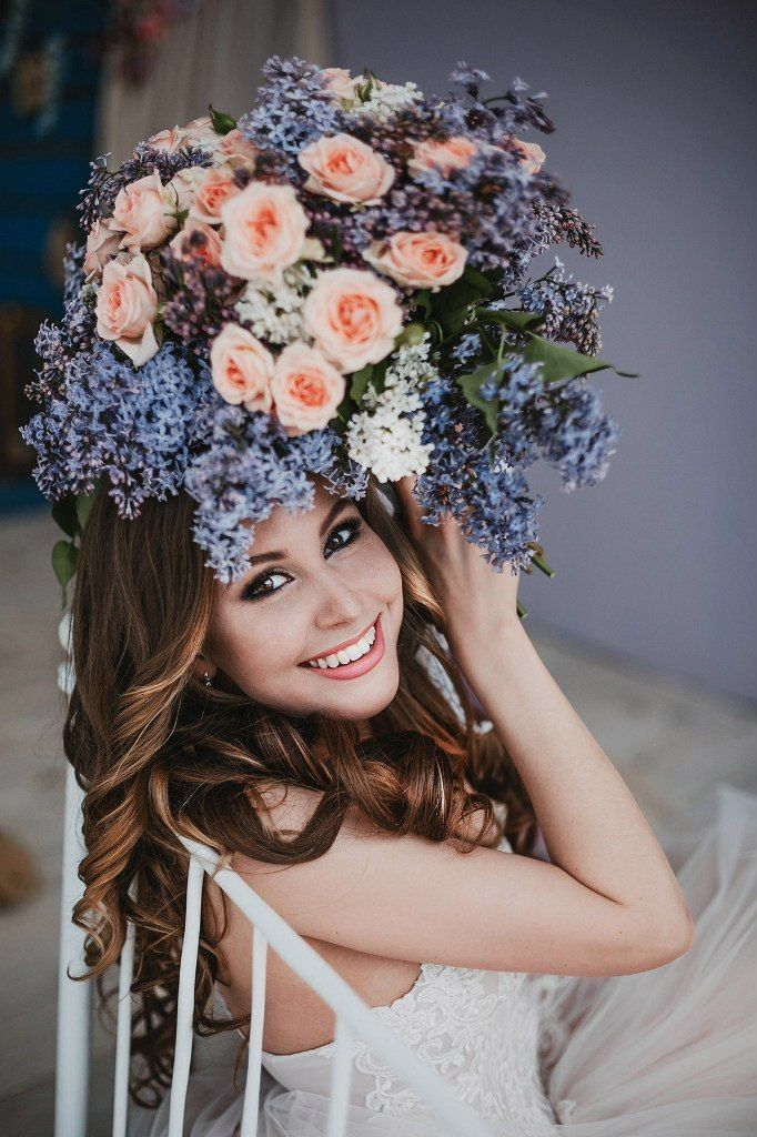 Букет невесты с розой и сиренью Работа флористов филиала г.Магнитогорск - фото 17091604 Цветочка - студия флористики