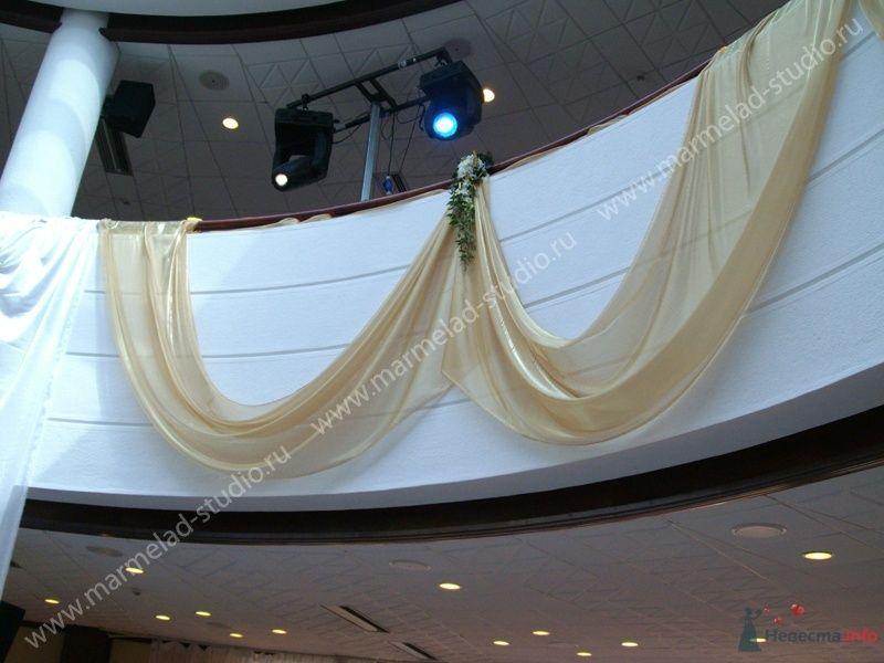 Фото 25819 в коллекции Оформление свадьбы тканями