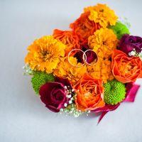 Подушечка для колец из цветов
