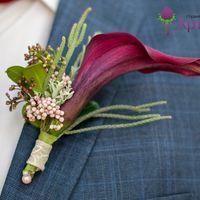 Свадебный букет из калл, Вероники, пионов, садовой розы, розы, брунии, скиммии, озомантуса. № 0548 цена 6300 руб. Наш телефон для заказа +7(846) 260-50-05.