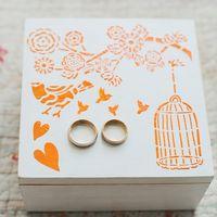 шкатулка для фотосессии и колец на свадьбе в стиле шебби шик