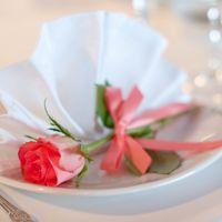 розовая свадьба декор салфетки роза