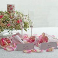 розовая свадьба бокалы