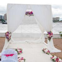 свадьба выездная регистрация фуксия