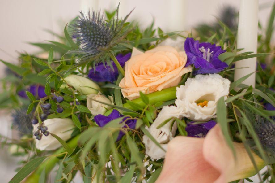 """синяя фиолетовая персиковая свадьба - фото 6443082 Студия флористики и декора """"Глориоза"""""""