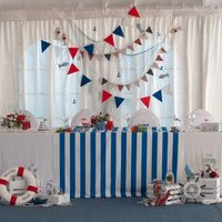 морская свадьба стол молодых