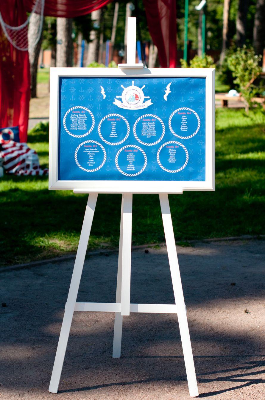 """морская свадьба план рассадки - фото 6618382 Студия флористики и декора """"Глориоза"""""""