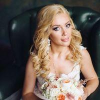 нежный персиковый букет невесты