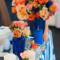 синие свечи стол молодых