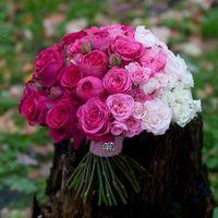 букет невесты омбре из роз