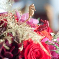 морские коньки декор свадьбы
