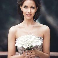 белый букет невесты из калл