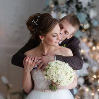 белый зимний букет невесты