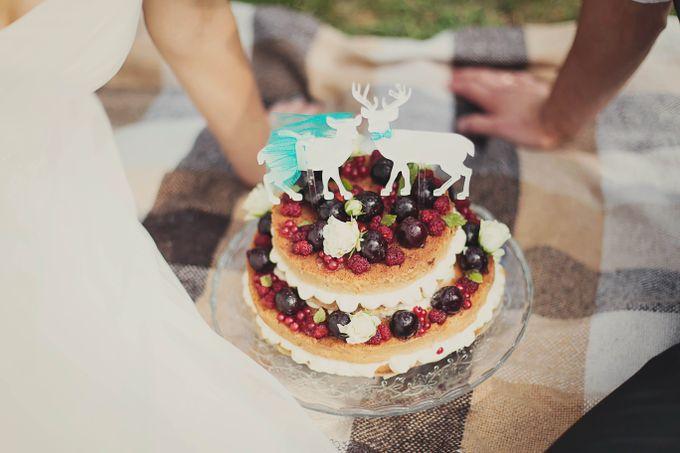 Свадебный торт своими руками фото