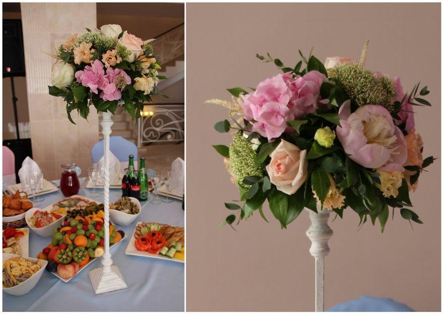 """Композиция на гостевой стол на кованной подставке (высота подставки 60 см) - фото 1680443 """"Несен Студио"""" - свадьба продуманная до мелочей"""