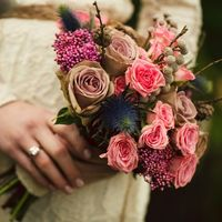 Свадебный букет в стиле рустик