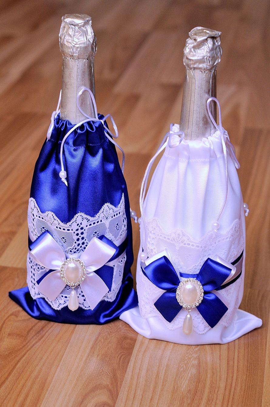 Как украсить шампанское на свадьбу своими руками, мастер 15