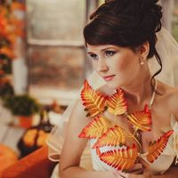 Свадебный образ в цветах осени