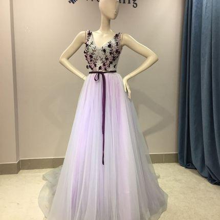 """Цветное свадебное платье """"Партения"""""""
