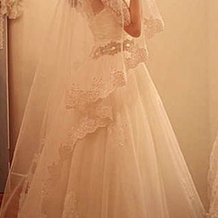 Свадебная фата А682