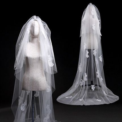 Свадебная фата А689