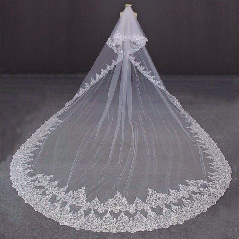 Длинная свадебная фата, арт. А1117