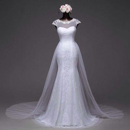 Свадебное платье со съёмной юбкой, арт. А1139