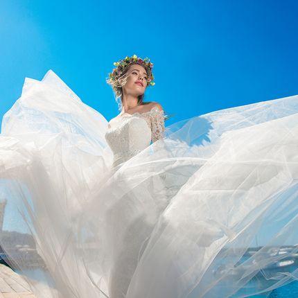 Свадебное платье длинное  А1272