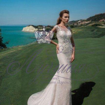 Свадебное платье русалка А1354