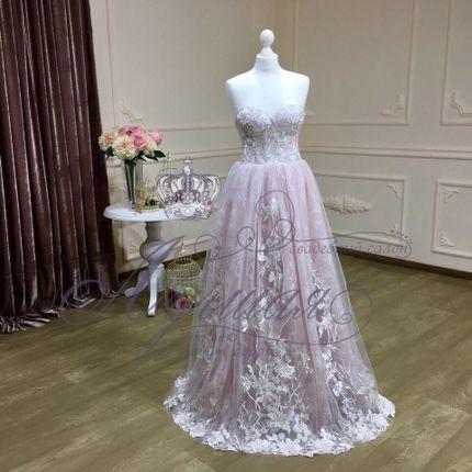 Платье цвета пудра А1359 прокат