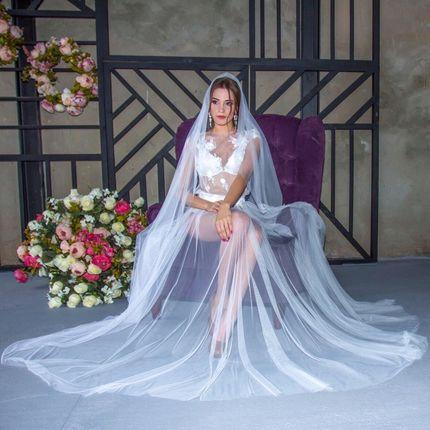 Свадебная накидка в стиле бохо А1401