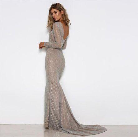 Вечернее платье со шлейфом А1494