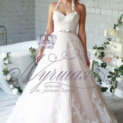 Свадебное платье цвета пудра А1517
