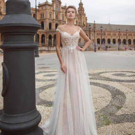 Платье со шлейфом А1624